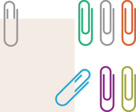 Paper Clip Vector Illustration Çizim