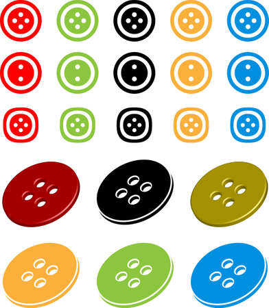 Clothing Button Icon Vector Illustration
