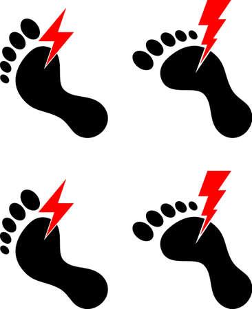 Human Feet Pain Vector Illustration Vectores