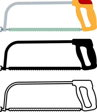 Hacksaw Isolated Icon Vector Illustration
