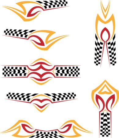 Vehicle Graphics, Stripe : Vinyl Ready Vector Art Vecteurs