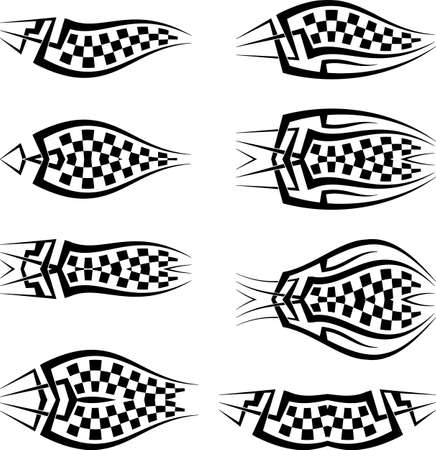 Tribal Car Decal : Vinyl Ready, Vehicle Graphics Vector Illustration Illustration