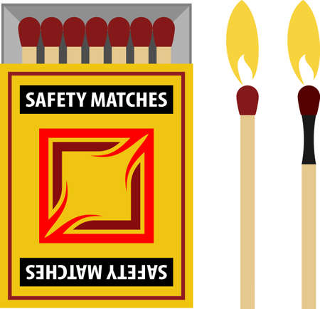 Matchstick Matchbox Icon Vector Illustration