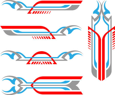 Vehicle Graphics, Stripe : Vinyl Ready Vector Art Ilustrace