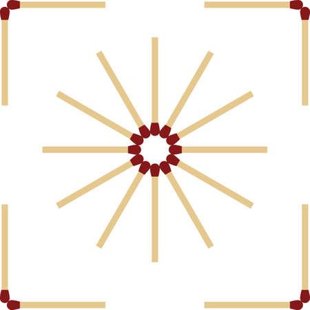Matchstick Pattern Icon Vector Illustration