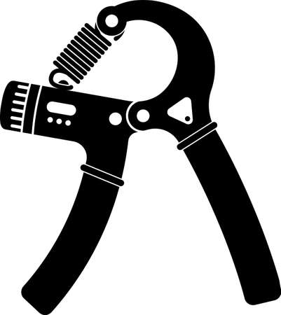 Hands Expander /Gripper Exercise Equipment Vector Illustration