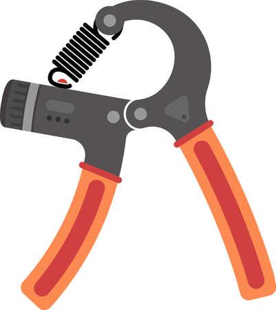 Hands Expander /Gripper Exercise Equipment Vector Illustration