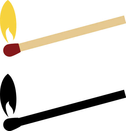 Matchstick Icon Vector Illustration