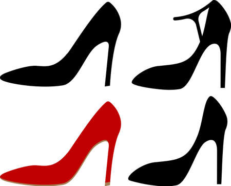 Woman Shoes Vector Illustration Иллюстрация