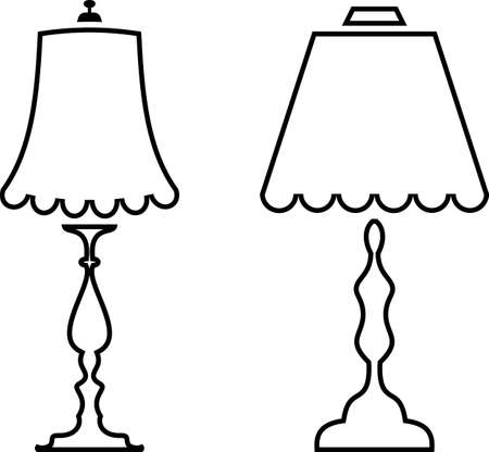 Table / Desk Night Lamp Vector Illustration