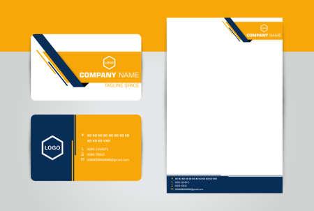 Biglietto da visita e intestazione di lettere aziendali Vettoriali