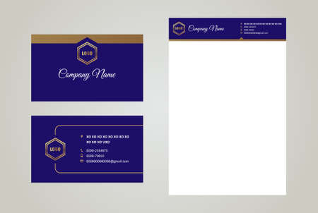 Corporate Business Card & Letterhead Royal