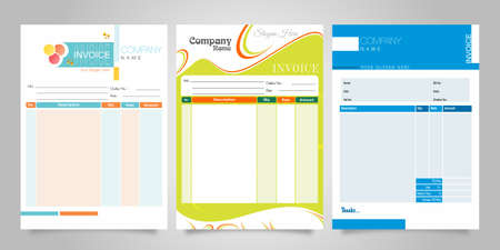 BILL INVOICE BUSINESS VECTOR DESIGN Vectores