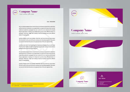 Diseño de tarjetas corporativas comerciales Ilustración de vector
