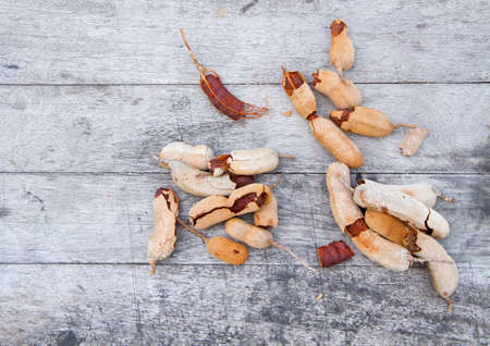Tamarind on the old white wooden