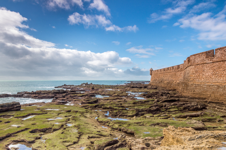 seventeenth: One of the bastions of the city of Cadiz Belonging to the defensive line That was built in the seventeenth century. Stock Photo