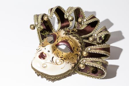 Carnival Venetian mask isolated on white background