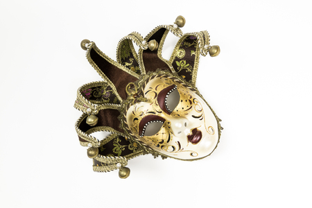 venician: Carnival Venetian mask isolated on white background