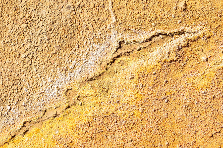 Orange and Yellow texture in the area of Rio Tinto mines, Minas de Riotinto, Huelva, Andalusia, Spain Imagens - 91823385