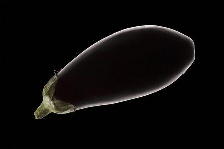Fresh eggplant isolated on black background. food, raw, healthy