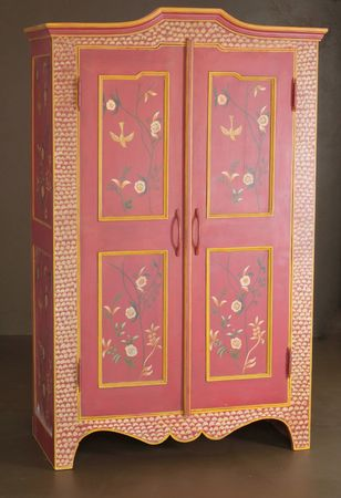 Hand crafted wooden cupboard photo