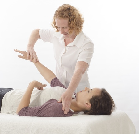physical test: Kinesiologist or physiotherapist treating Diaphragm