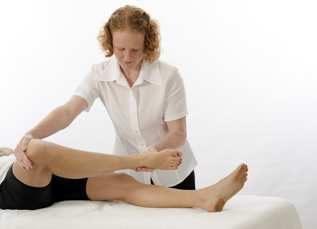 physical exam: Kinesiologist or physiotherapist treating Sartorius