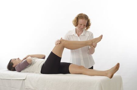 Kinesiologist or physiotherapist treating Piriformis photo