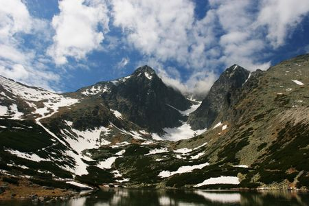 Amazing mountain view (High Tatra, Slovaka).