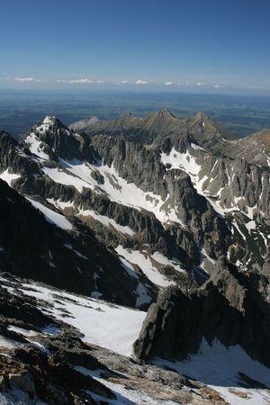 Amazing mountain view (High Tatra, Slovakia) Stock Photo
