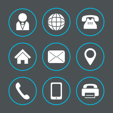 Vector icons for information and web printing Illustration