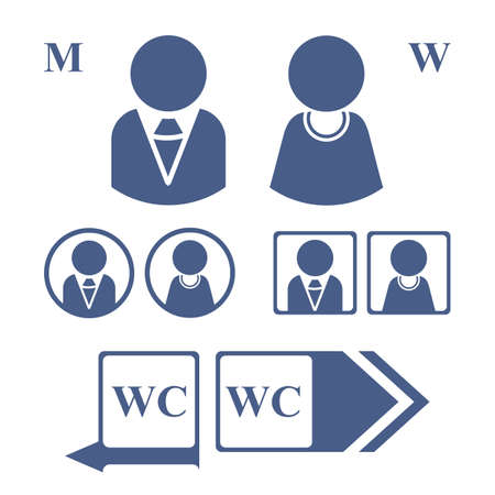 man and women wc sign: Icons depicting men and women for the WC.
