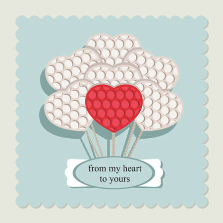 Valentines. Vector image. Greeting card. Vector