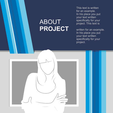 print template with photo insert. Portfolio. Graphic figure. Vector illustration