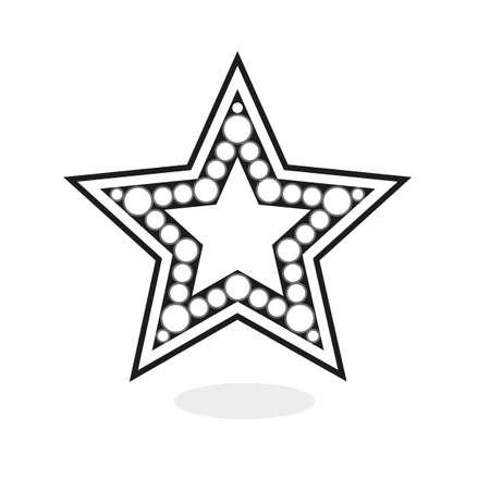 cinema screen: Star background Graphic design vector illustration.