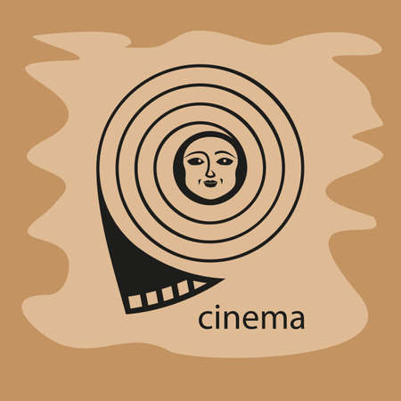 which: Film, in which a smiling face. Vector illustration. Illustration