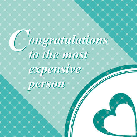 dearest: The recognition of the dearest person on turquoise background.