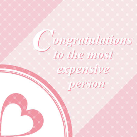 dearest: The recognition of the dearest person on a pink background.