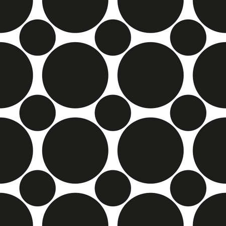 Black circles of different sizes. Vector