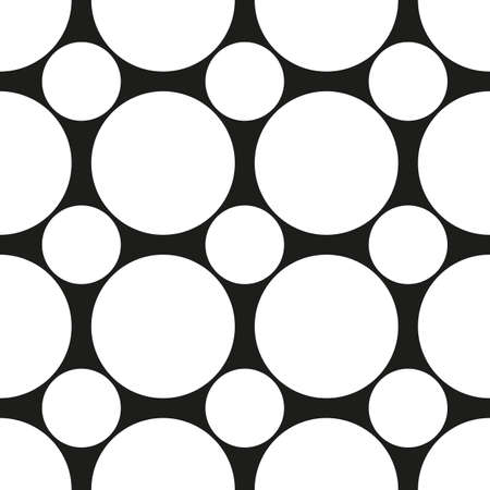 Background of white circles on a black background.