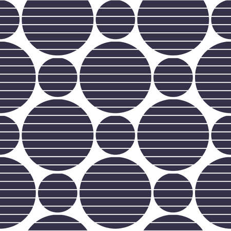 Black circles of different sizes. Vector illustration.