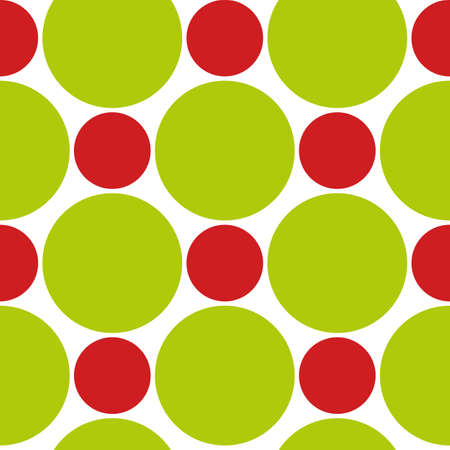 Red and green circles of different sizes. Vector.