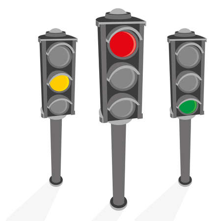 The image of the traffic light.