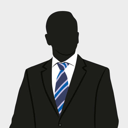 Silhouette of business person in suit.