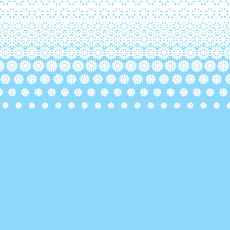 Vector illustration. White circles on blue background.