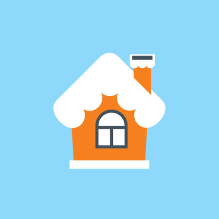 Vector illustration of house in a single color.