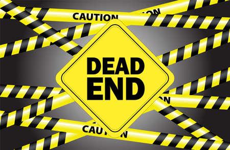 dead end: dead end Illustration