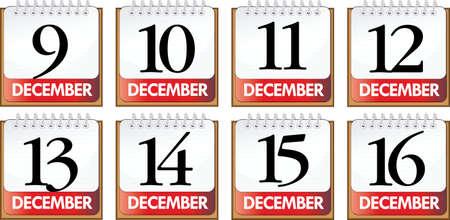 days of December Stock Vector - 12848076
