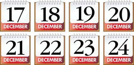 days of December Stock Vector - 12848075
