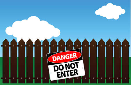 do not enter Stock Vector - 13610847